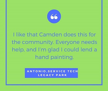 Quote From a Participant at Camden Cares 2016 Event
