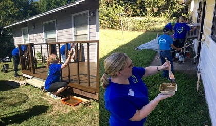 Team Members Working at Camden Cares 2016 Event