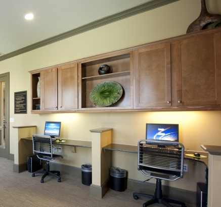 Business Center at Camden South Bay Apartments in Corpus Christi, Texas